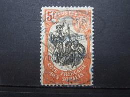 VEND BEAU TIMBRE DE LA COTE FRANCAISE DES SOMALIS N° 66 , CACHET BLEU !!! - Französich-Somaliküste (1894-1967)