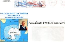 """TAAF-1989- Entiers Postaux- Yt PA105/106 Navire """"La Curieuse""""- P-E Victor (env. 16x23) - Enteros Postales"""