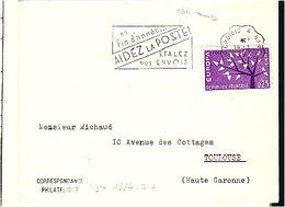Lettre Cachet Courrier Convoyeur Ligne N° 1834 Le Croisic à Nantes Oblitération Mecanique - Railway Post