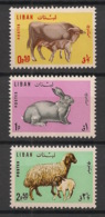 Liban - 1965 - N°Yv. 256 à 258 - Animaux D'élevage - Neuf Luxe ** / MNH / Postfrisch - Libanon
