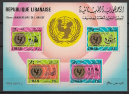 Liban - 1974 -  Bloc Feuillet BF N°Yv. 28 - UNICEF - Neuf Luxe ** / MNH / Postfrisch - UNICEF