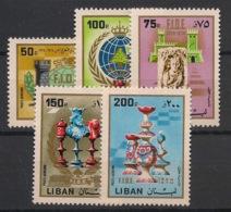 Liban - 1980 - Poste Aérienne PA N°Yv. 670 à 674 - Echecs / Chess - Neuf Luxe ** / MNH / Postfrisch - Libanon