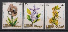Liban - 1984 - N°Yv. 295 à 297 - Fleurs / Flowers - Neuf Luxe ** / MNH / Postfrisch - Végétaux
