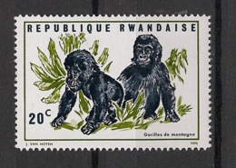 Rwanda - 1970 - N°Yv. 370 - Gorille / Gorilla - Neuf Luxe ** / MNH / Postfrisch - Gorilles