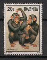 Rwanda - 1978 - N°Yv. 820 - Singe / Monkey / Chimpanze - Neuf Luxe ** / MNH / Postfrisch - Chimpanzés