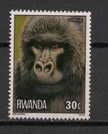 Rwanda - 1978 - N°Yv. 821 - Gorille / Gorilla - Neuf Luxe ** / MNH / Postfrisch - Gorilles