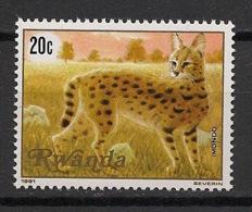 Rwanda - 1981 - N°Yv. 1000 - Serval - Neuf Luxe ** / MNH / Postfrisch - Félins
