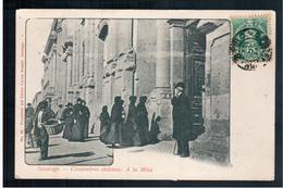 CHILE  Santiago - Costumbres Chilenas - A La Misa Ca 1905 OLD POSTCARD - Cile
