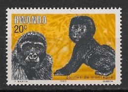 Rwanda - 1983 - N°Yv. 1117 - Gorille / Gorilla - Neuf Luxe ** / MNH / Postfrisch - Gorilles