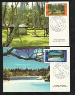 N.C.   2 Cartes Maximum  Premier Jour Nouméa Le 26/03/1986 Les N°514 Et 515 Paysages Village Et Baie De Kanumera   TB - Briefe U. Dokumente