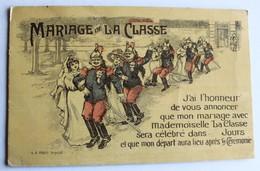 CPA Militaria Illustrateur Mariage De La Classe Soldat Cuirassier - Humour
