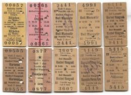 Rail Train Metro Bus - Vintage Traveled Ticket Croatia ( Yugoslavia ) - Transportation Tickets