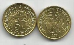 Sao Tome E Principe  50 Centimos  1977. - Sao Tome And Principe