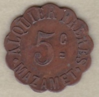 81. Tarn. Ville De Mazamet Alquier Frères. 5 Centimes 1917, En Cuivre Rond Lobé - Monétaires / De Nécessité
