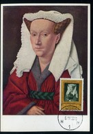 Belgique - Carte Maximum 1958 - Oeuvre De Jan Van Eyck - Maximumkarten (MC)