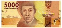 INDONESIA 5000 RUPIAH 2017 Pick 156 Unc - Indonesia