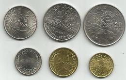 Sao Tome And Principe 1977. 50 Centimos,1 - 2 - 5 - 10 And 20 Dobras,high Grade - Sao Tome And Principe