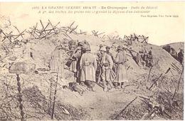 En Champagne Butte Du Mesnil A 4 M Des Boches Les Poilus Ont Organisé La Défense D'un Entonnoir - Guerra 1914-18