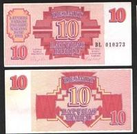 LATVIA 10   1992 UNC - Lettonie