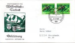 "BRD Schmuck-FDC: ""350 Jahre Soleleitung"", Mi.2x 602 ESSt 4.9.1969 BONN 1 - BRD"