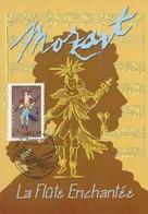 2006 - CARTE MAXIMUM 1er JOUR - OPERA De MOZART - La FLÛTE ENCHANTEE - PARIS - 2000-09