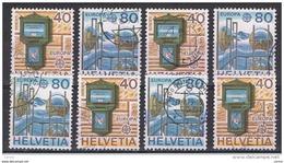 SVIZZERA:  1979  EUROPA  CEPT  -  S. CPL. 2  VAL. US. -  RIPETUTA  4  VOLTE  -  YV/TELL. 1084/85 - Europa-CEPT