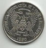 Sao Tome And Principe 10 Dobras 1990. FAO - Sao Tome And Principe
