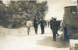 Carte Photo Manoeuvres Dans Le Var Général Mathis Et Général Metzinger 1906 - Manoeuvres