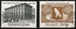 Island MiNr. 652/53 O 100 Jahre Isländische Landesbank - 1944-... Republik