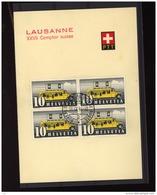 Suisse  :  Yv   432  (o)   Bloc De 4  Sur Document Officiel - Suisse