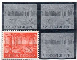 KPI-274. INDONESIE  1960, 75sen Block 4 KARET, Piece Of Printing Plate! Rare !! - Indonesia