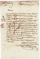 Lettre 1786 Sète Hérault Cette Pour Agde Canal Du Midi Benezech - Marcofilie (Brieven)