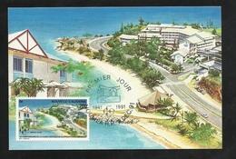 N.C.   Carte Maximum  Premier Jour Nouméa Le 02/12/1991 Poste  N°628 C.C.C. Habitat Social - Hotellerie Tourisme  TB - Nueva Caledonia