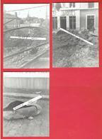 GARE DE CHARTRES BOMBARDEMENT DU 25 JUIN 1944 CAFE JACQUES LOT DE 3 PHOTOGRAPHIES EURE ET LOIR - Guerre, Militaire