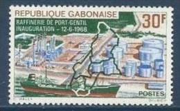 "Gabon YT 229 "" Rafinerie De Port-Gentil "" 1968 Neuf** - Gabon (1960-...)"