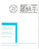CHATEAU = 28 SENONCHES 1972 = FLAMME PREMIER JOUR = SECAP Illustrée ' Château - Forêt - étangs - Piscine ' - Marcophilie (Lettres)