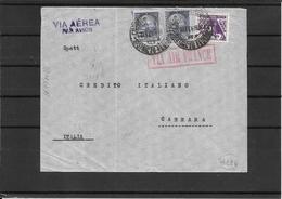 Brasile 1935 Lettera Via Air France Da Rio A Carrara ( Ref 2523) - Brésil