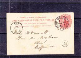 Irlande - Carte Postale De 1894 - Entiers Postaux - Oblit Belfast - Exp Vers Gent - Irlande