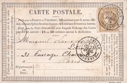 N° 55 S / CP T.P. Ob T 18 Charleville 25 Avril 76 Pour Paris - Poststempel (Briefe)