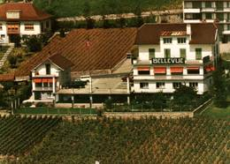 """CPM - AUVERNIER - Vue De La Ville ... Hôtel Restaurant """"Bellevue"""" - NE Neuchâtel"""