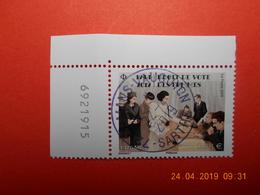 FRANCE 2019   1944-2012 DROIT DE VOTE DES FEMMES    Beau Cachet  Rond Sur Timbre Neuf   Numéroté - France