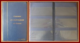 Album Pour 60 Gravures Des Timbres-poste De France (ou Bloc TP) Occasion - Petit Format, Fond Noir