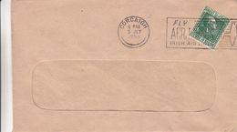 Irlande - Lettre De 1950 - Oblit Corcaigh - Pub Irish Air Lines - 1949-... République D'Irlande