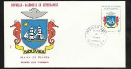 N.C.   Lettre Premier Jour Nouméa Le 11/04/1984 Le N°486  Blason De Nouméa  Hippocampes     TB Soldé ! - Enveloppes