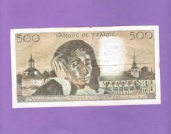 BILLET De  500 F - 1981 - 1962-1997 ''Francs''