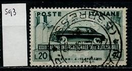 Italie - Italy - Italien 1951 Y&T N°593 - Michel N°828 (o) - 20l Salon Automobile - 1946-.. République