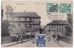 # 9735 Czechia, Leitmeritz, Litomerice Postcard Mailed 1920 TCV: Street Scene, Animated - Czech Republic