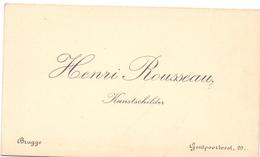 Visitekaartje - Carte Visite - Kunstschilder Henri Rousseau - Brugge - Cartes De Visite