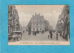 Saumur. - Rue D'Orléans Et Rue Balzac. - Vieille Voiture. - Attelage. - Saumur