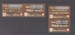 Suisse  :  Yv  375-77  (o)  2 Paires Se Tenant - Gebruikt